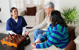 Home Healthcare Worker With Couple