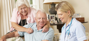 Nurse With Retired Couple